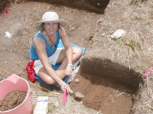 Excavating a site at Judith's Fancy on St Croix as part of a National Park Service project. (2005)