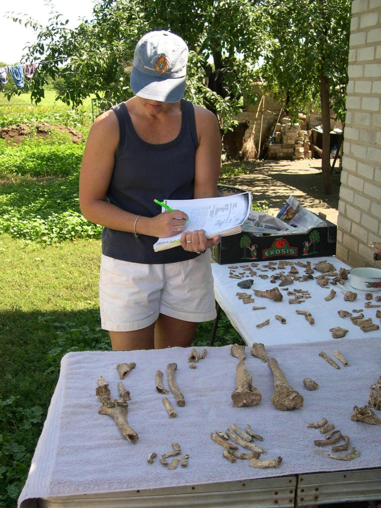 Analyzing the remains from a 2,000-year-old burial mound in Alexandropol, Ukraine (2006).
