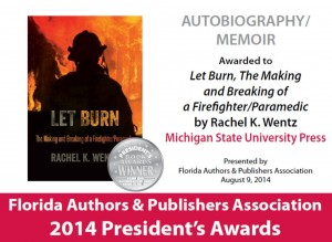 Let Burn book award