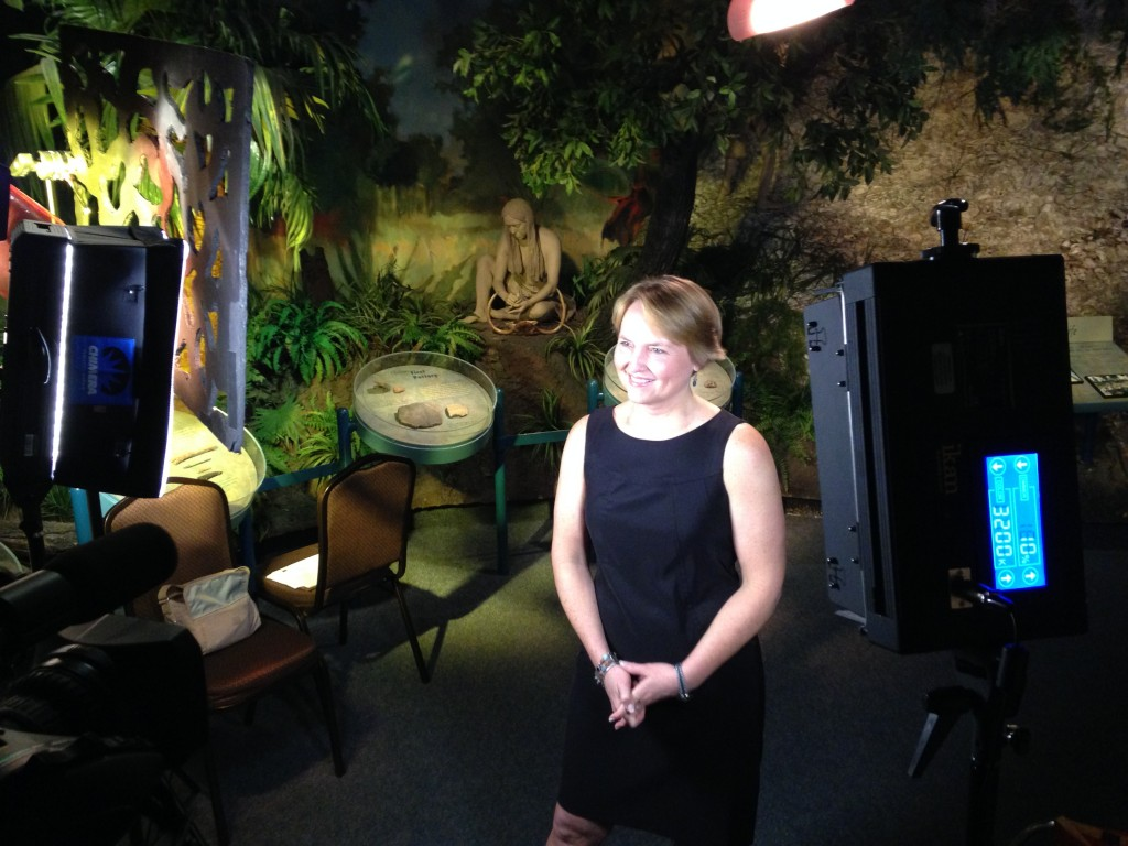 Interview for Orange County Scrapbook Show at the Orange County Regional History Center, discussing the significance of the Windover site. (April, 2014)