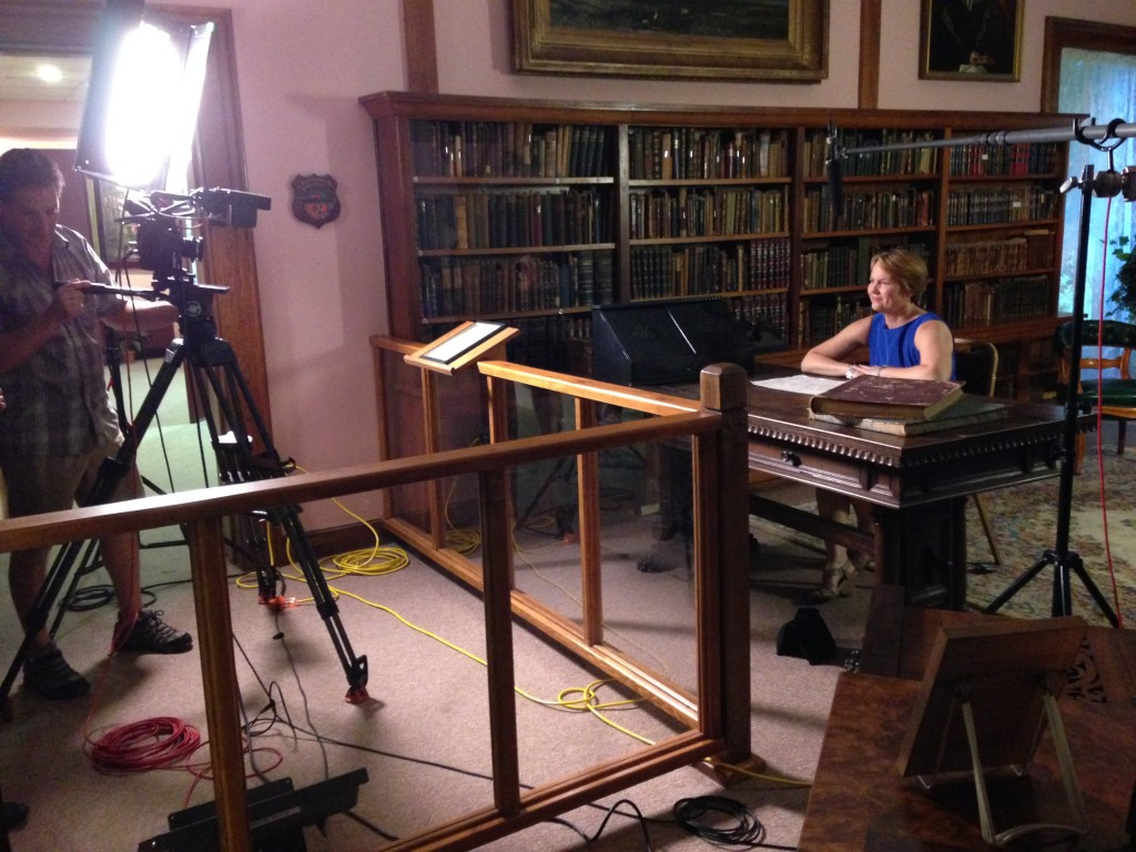 Taping a shoot for the Weather Channel, which focuses on the 1880s yellow fever epidemic in Florida.