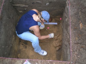 Assessing human remains at a site outside of St. Augustine. (2010)