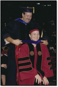 Graduating with PhD from Florida State University, 2006.