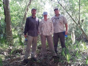 Fieldwork at Tomoka State Park with John Endonino and Kevin Gidusko. (2013)